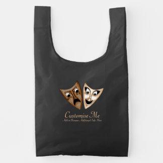 Tragedy & Comedy Reusable Bag