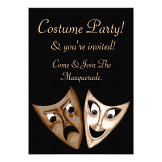 Tragedy Comedy Custom Invitation