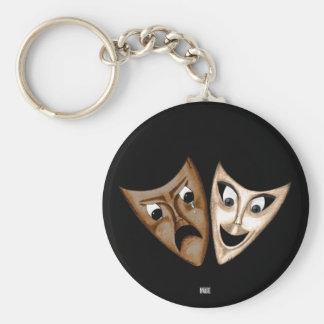 Tragedy & Comedy Keychain
