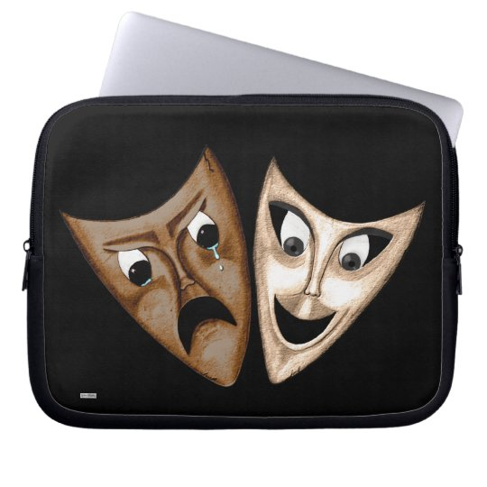 Tragedy & Comedy Laptop Sleeve