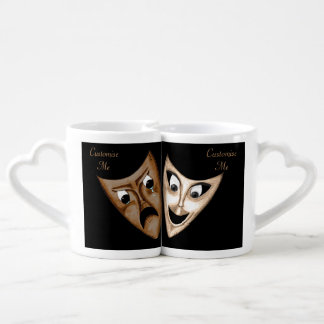 Tragedy & Comedy Lovers Mug Set