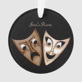 Tragedy & Comedy Ornament