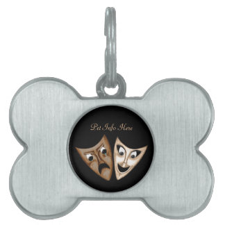 Tragedy & Comedy Pet ID Tags