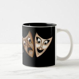 Tragedy & Comedy Two-Tone Coffee Mug