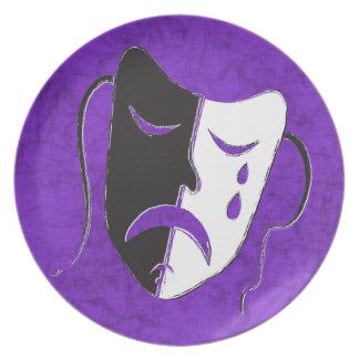 Tragedy Mask Plates