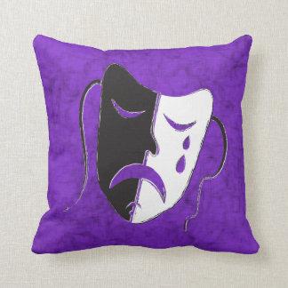 Tragedy Mask Throw Pillow