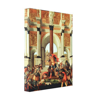 Tragedy of Lucretia by Botticelli, Renaissance Art Stretched Canvas Print