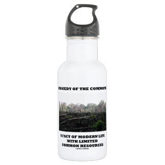 Tragedy Of The Commons A Fact Of Modern Life Stainless Steel Water Bottle