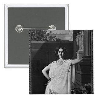 Tragedy or, Portrait of Rachel, c.1854 Pinback Button