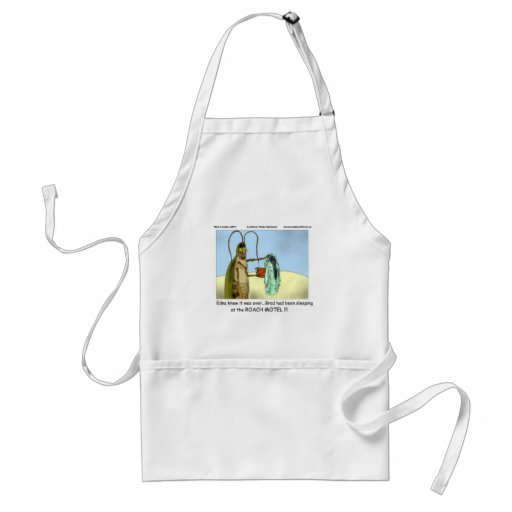 Tragedy @ Roach Motel Funny Gifts Tees Mugs Etc Apron