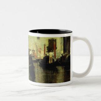 Traghetto della Maddalena, 1887 Two-Tone Coffee Mug