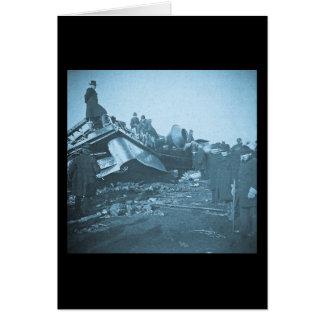 Tragic Railroad Accident at Farmington River Card