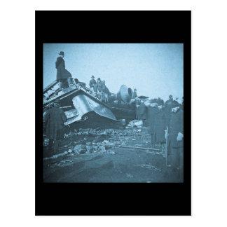 Tragic Railroad Accident at Farmington River Postcard