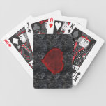 Tragic Royalty Grunge Heart Cards Playing Cards