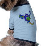 Trago azul y verde camiseta de mascota