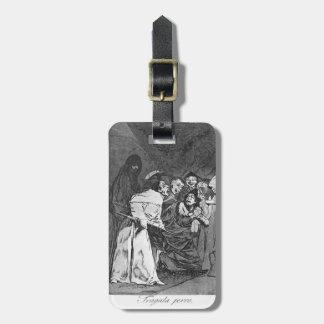 Trago de Francisco Goya- él, perro Etiqueta Para Maleta