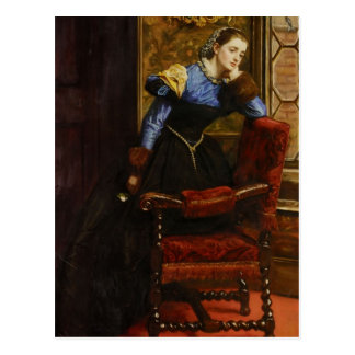 Trago de Juan Everett Millais-, trago Postal