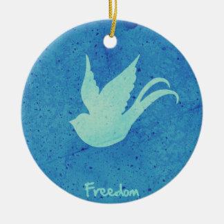 Trago de la libertad ornamento para arbol de navidad