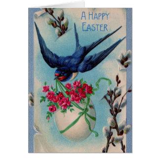 Trago de Pascua del vintage Tarjeta De Felicitación