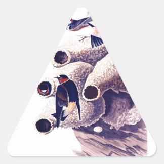 Trago del republicano o de acantilado calcomanías de triangulos