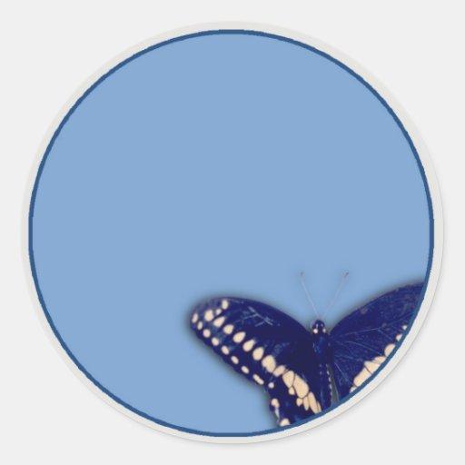 Trago negro Longtail Pegatina Redonda