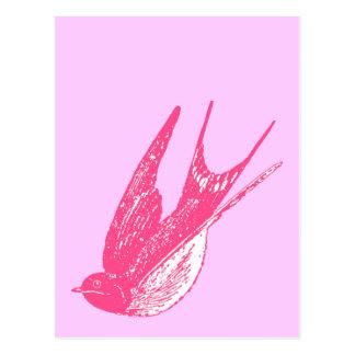 Trago rosado retro postal