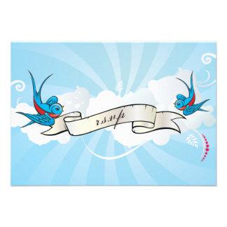 Tragos del tatuaje y tarjeta de la recepción de la invitación personalizada