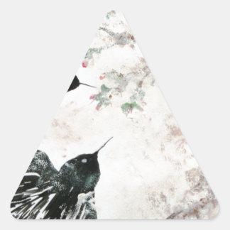 Tragos en la nieve calcomanías trianguloes personalizadas