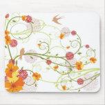 Tragos florales amarillos Mousepad Alfombrilla De Raton