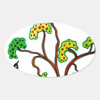 Tragos y el manzano calcomanía ovaladas personalizadas