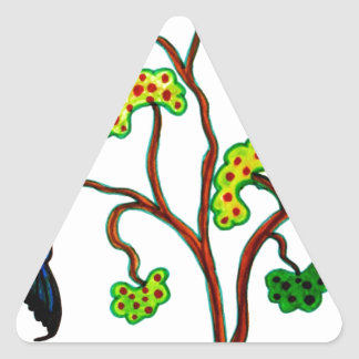 Tragos y el manzano pegatinas triangulo personalizadas