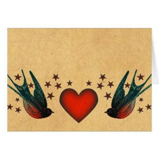 Tragos y estrellas tarjeta de felicitación