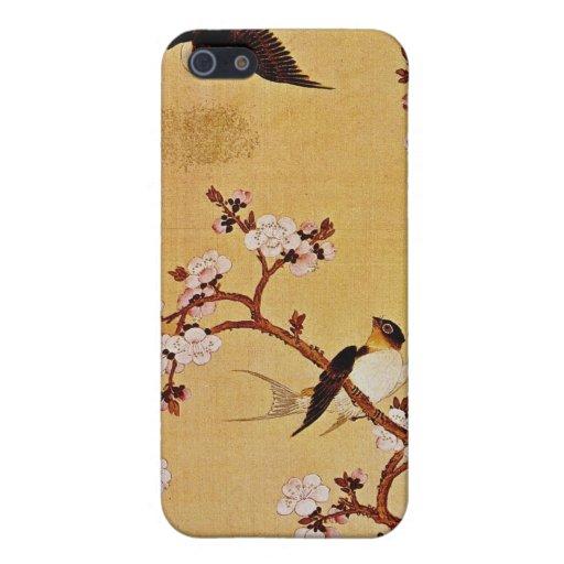 tragos y ramas florecientes, Chiang T'in del blanc iPhone 5 Cárcasa