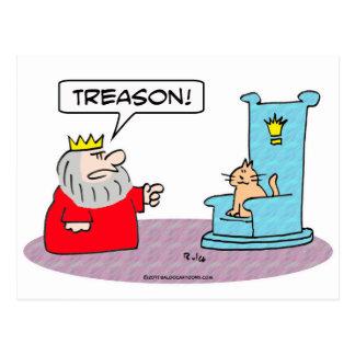 traición del trono del gato del rey postal