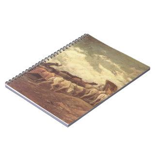 Traído por caballo por Honore Daumier Libreta Espiral