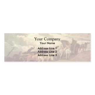 Traído por caballo por Honore Daumier Tarjetas Personales