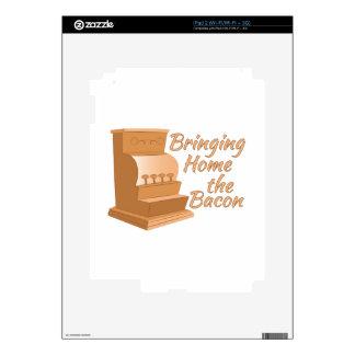 Traiga a casa el tocino iPad 2 calcomanía