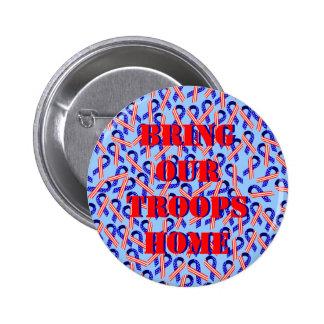Traiga a nuestras tropas las cintas caseras de los pins