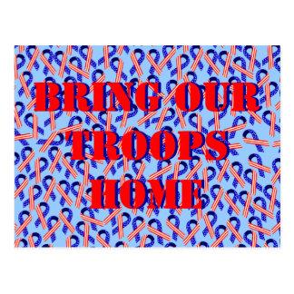 Traiga a nuestras tropas las cintas caseras de los postales