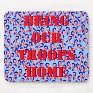 Traiga a nuestras tropas las cintas caseras de los tapete de ratones