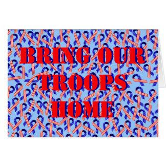 Traiga a nuestras tropas las cintas caseras de los tarjeta de felicitación