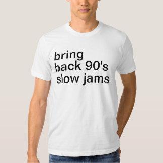 traiga detrás a años 90 los atascos lentos playeras