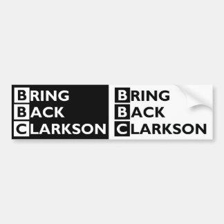 Traiga detrás a Clarkson 2 para 1 pegatina para el Pegatina Para Auto