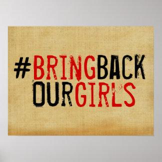 # traiga detrás a nuestros chicas el poster