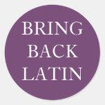 Traiga detrás al pegatina latino