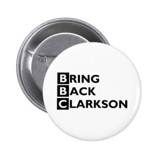 Traiga detrás el botón de Clarkson