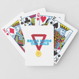 Traiga el oro cartas de juego