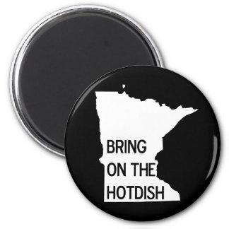 Traiga en el imán divertido de Hotdish Minnesota