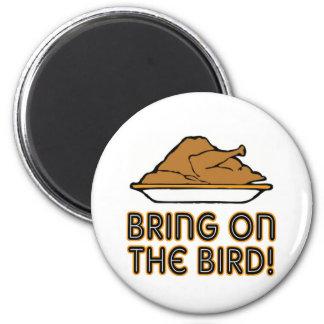 Traiga en el pájaro imán redondo 5 cm