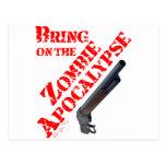 Traiga en la apocalipsis del zombi postal